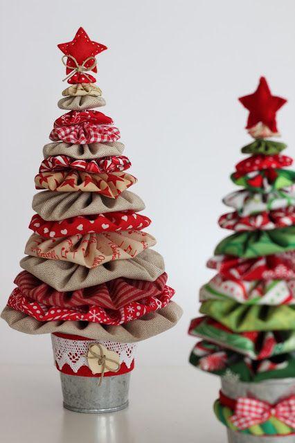 Las 25 mejores ideas sobre artesan as de tela en - Adornos para navidad con pinas ...