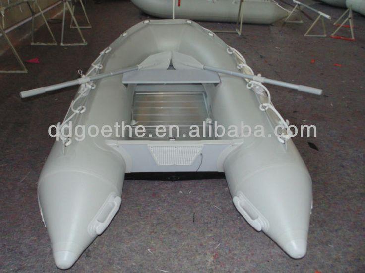 Goethe 3 people aluminum floor inflatable dinghy boats sale