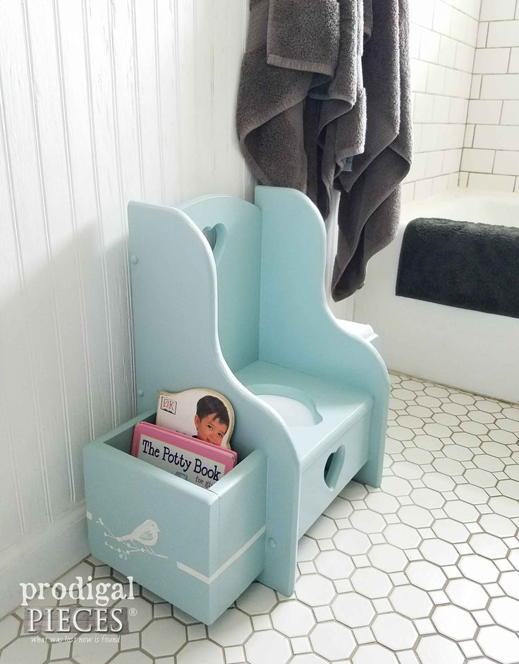Make potty training fun for you toddler with this vintage potty chair. Fashionable for any decor and has every detail you need to help your child learn. Available at Prodigal Pieces | prodigalpieces.com