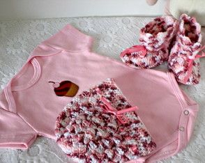 Conjunto Bebê em Crochê com Body