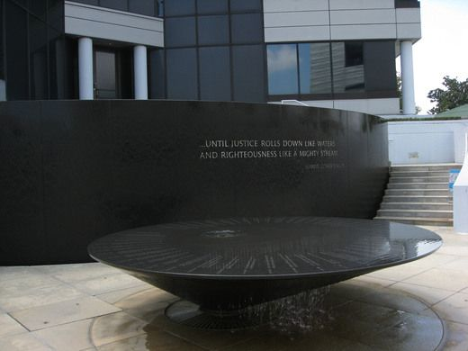 Civil Rights Memorial, Montgomery, AL   Designed by Maya Lin, the memorial honors 40 individuals who died fighting for equal rights between 1954 and 1968