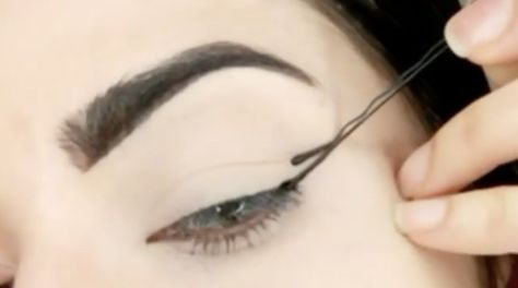 This Genius Bobby Pin Trick Makes Your Eyeliner Even on Both Sides Every Time