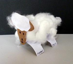 Schaf aus Toilettenpapierrolle - Tiere Basteln - Meine Enkel und ich - Made with schwedesign.de