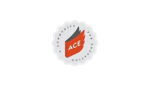 Badge, red, grey