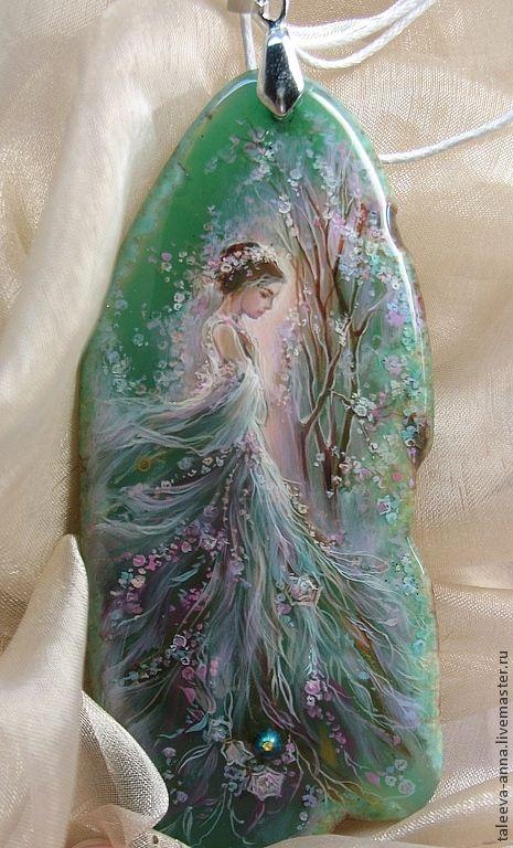"Кулон""Май""..по мотивам(!) - морская волна,кулон,подарок,девушка,образ"