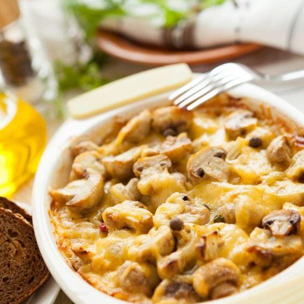 Gratins de champignons et pommes de terre