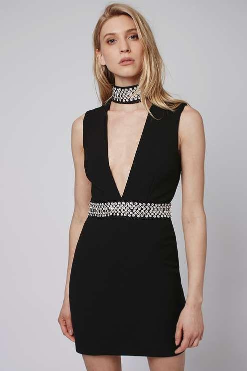 Dress with embellished details. #Topshop