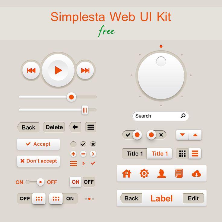 Simplesta - Free UI Kit
