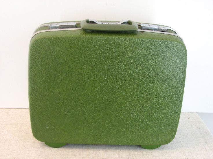 Green Royal Traveler Small Suitcase or Train Case - pinned by pin4etsy.com