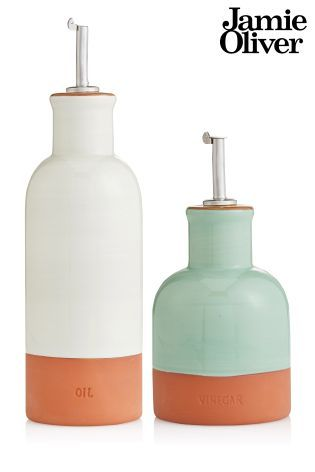 Buy Set Of 2 Jamie Oliver® Terracotta Oil And Vinegar Drizzlers from the Next UK online shop