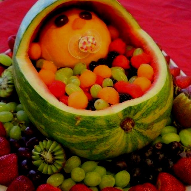 Marvelous Creative Baby Shower Appetizers Part - 12: Baby Shower Appetizer. Haha This Is Adorable!