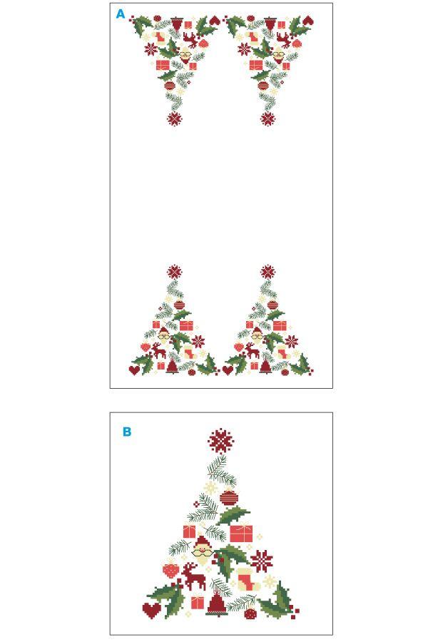 Noël : une grille de broderie gratuite au point de croix (avec images)   Broderie gratuite ...