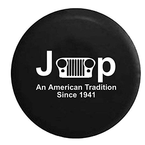 Jeep American Tradition Grill Spare Tire Cover OEM Vinyl Black 3233 in *** Click on the image for additional details.