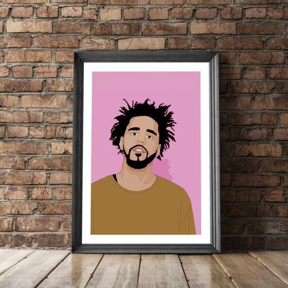 J Cole Poster J Cole Print Hip Hop Poster JCole by MangoAndDesign