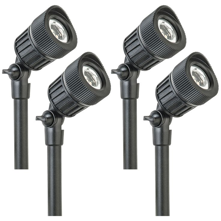 """Gregory 6""""H Black Low Voltage 4-Pack Micro LED Spot Light - Style # 1W895"""