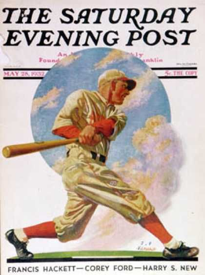 Saturday Evening Post - 1932-05-28: Baseball Batter (J.F. Kernan)