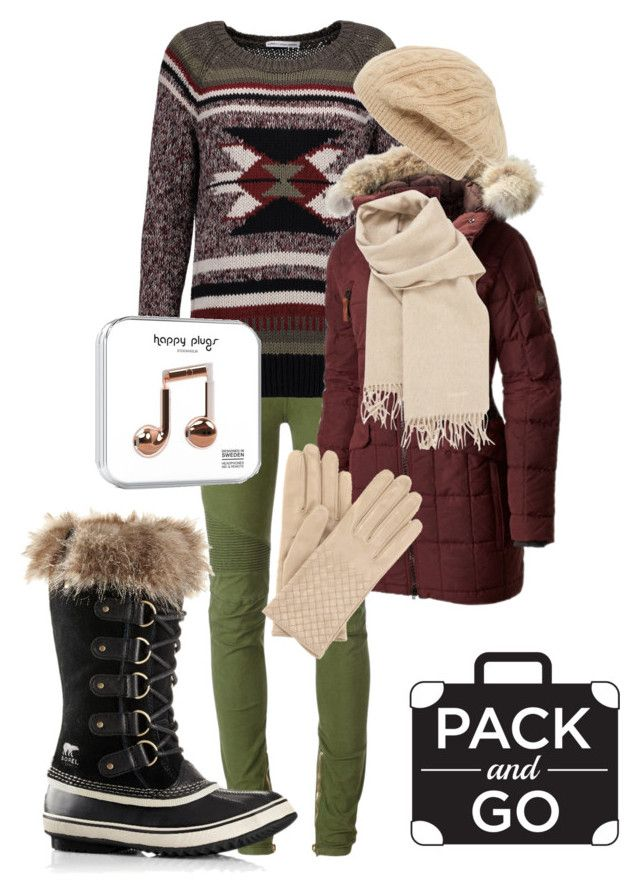 """winter getaway"" by dilley818415 on Polyvore featuring Balmain, Autumn Cashmere, SOREL, Hermès, Bottega Veneta and Sole Society"