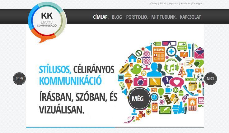 KKreatív Kommunikáció weboldal | Kreatív Webdesign Tanfolyam