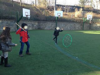 """Recreate your own Native American games with your 3rd graders   (""""Hoop and Stick"""")"""