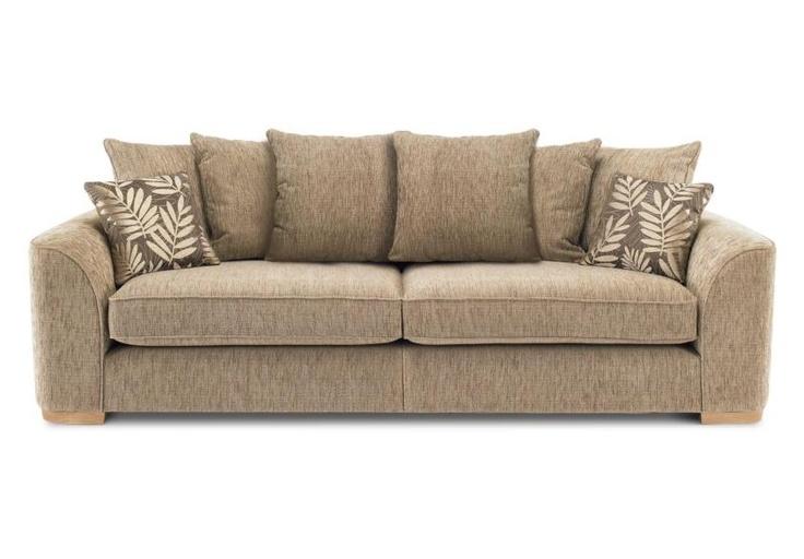 4 seater casual back sofa split frame lonsdale sofa for F furniture village