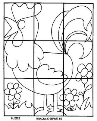 1000 images about velikonoce easter on pinterest sheep crafts easter holidays and hens - Puzzle a colorier ...