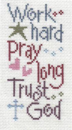 Lizzie Kate Flip It Patterns   Lizzie Kate -- Work, Pray, Trust