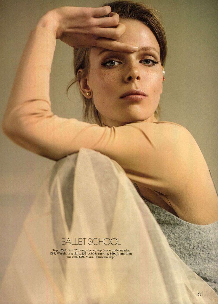 Model wearing MFP Ear Cuff on Marie Claire UK September Style edit 'Ballet School'