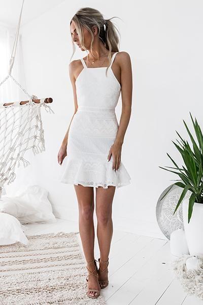 Two Sisters - Shona Dress (White)