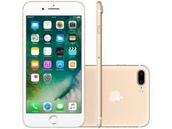"iPhone 7 Plus Apple 32GB Dourado 4G 5,5"" - Câm. 12MP + Selfie 7MP iOS 10 Proc. Chip A10"