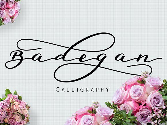 Badegan Calligraphy by Ijemrockart / Letterplay on @creativemarket