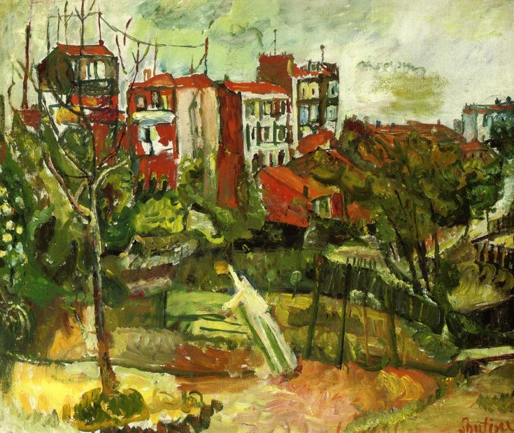 soutine paintings | Suburban Landscape with Red Houses - Chaim Soutine - WikiPaintings.org