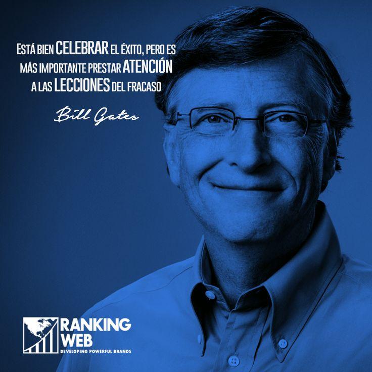 Bill Gates es el fundador de Microsoft y uno de los hombres más ricos del mundo, según Forbes. Se ha distinguido también  por su labor filantrópica. Les compartimos una #frase suya: