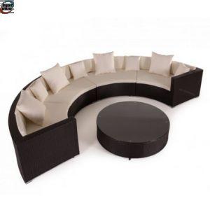 Hagemøbler Rotting Poly rotting ovalt Lounge sett - mørk brun