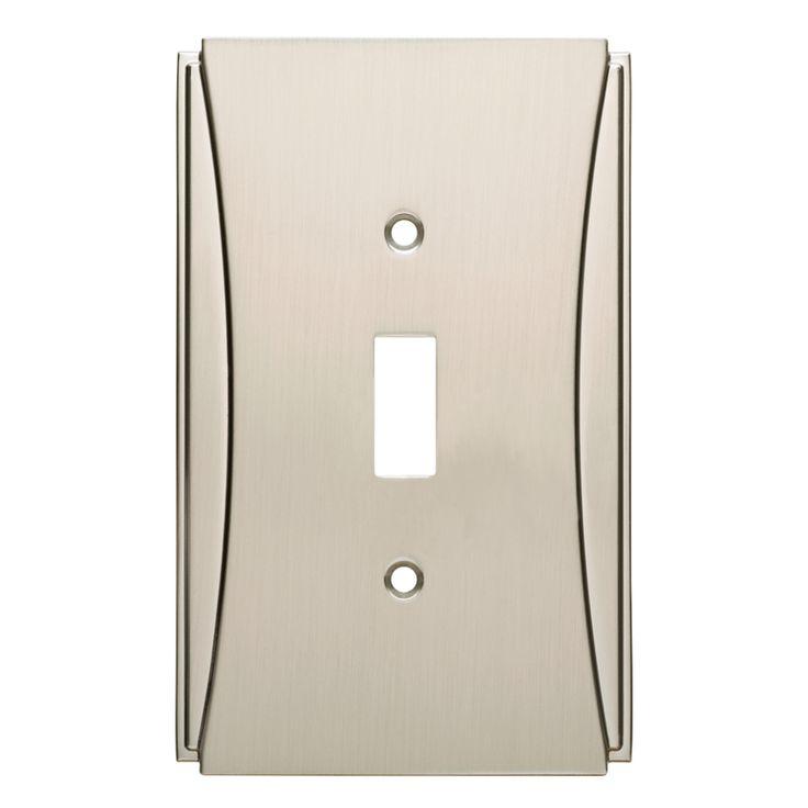 brainerd upton 1gang satin nickel single toggle wall plate