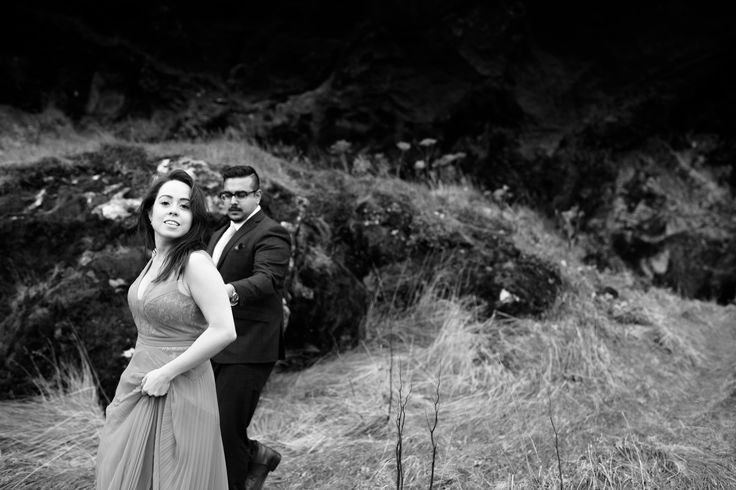 Just take my lead Arjun and Amanda on the beautiful #reynisfjara beach in Iceland www.bigalstudios.ca #seljalandsfoss #seljalandsfossfalls #skogafossfalls #skogafoss #thatreddress #reddressiceland #icelandengagementshoot #icelandphotoshoot #icelandweddingpictures #internationalweddingphotographer #torontoweddingphotographer #destinationweddingphotographer #eshootideas #wowair #bluelagoon #wheniniceland #reykjavik #bigalstudiostoronto