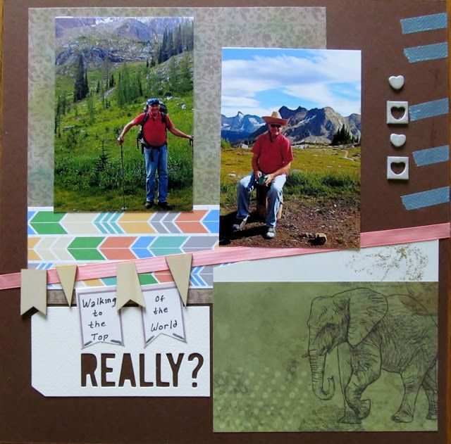 July page challenge by Marianne.  Scrappers' Cove Blog Spot,