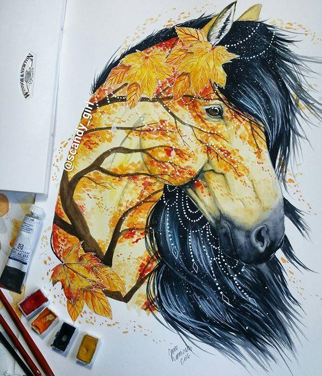 Autumn horse by Jonna Lamminaho (Scandy_girl)