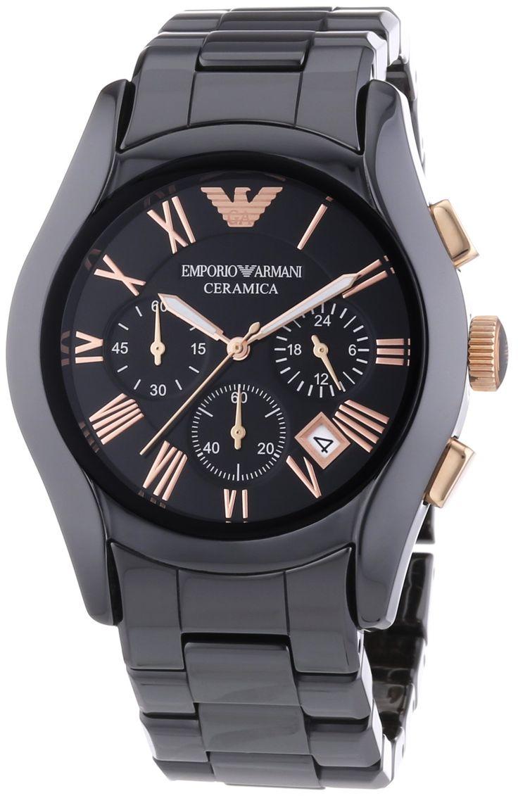 Emporio Armani Herren-Armbanduhr XL Chronograph Quarz Keramik AR1410 - #armbanduhr #xluhr #chronograph #xxluhr #quarzuhr #armani #keramikuhr - http://uhrify.de/uhrenmarken/armani-uhren-herren/