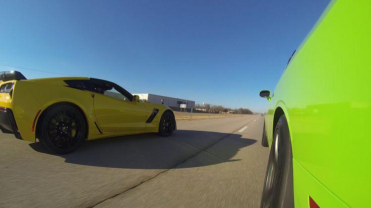 2015 C7 Z06 vs 2015 Challenger Hellcat vs 2014 GT500 see article: http://www.motorauthority.com/news/1096861_freeway-three-way-corvette-z06-vs-challenger-srt-hellcat-vs-mustang-shelby-gt500?fbfanpage