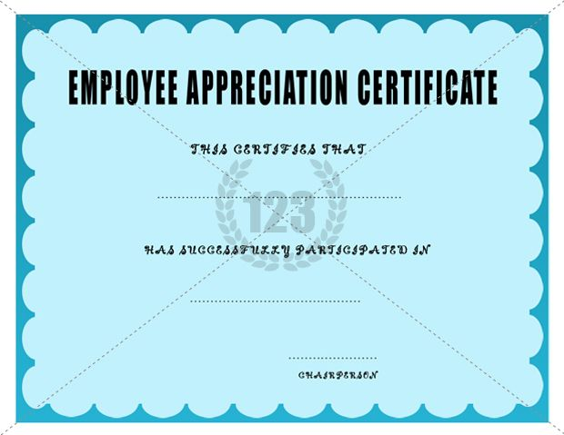 Employee Appreciation Certificate Template Certificate