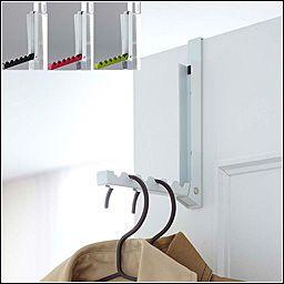 玄関 かぐらし 折り畳みドアハンガー スマート [ コート掛け 洋服掛け ドアフック ドア フックハンガー ]PVSWL PVSBL