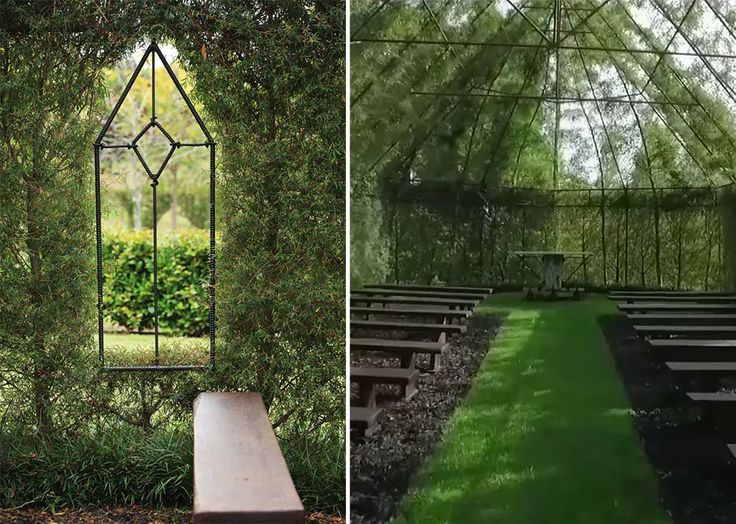 Located in the same island country that the Lord of the Rings trilogy was filmed is a structure that, like the hill-secured homes of the hobbits, also seems to hide within its natural environment. The Tree Church is formed almost entirely from living trees with thick leaves covering its shady in
