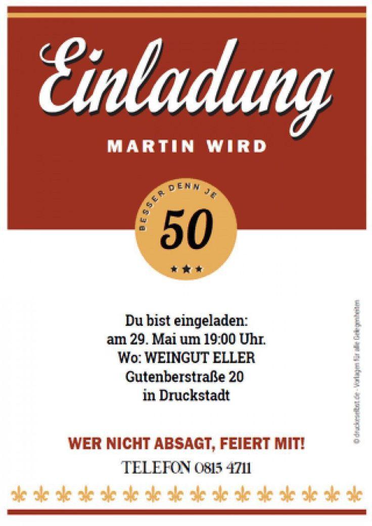 Einladungskarten 50 Geburtstag Kostenlos Download