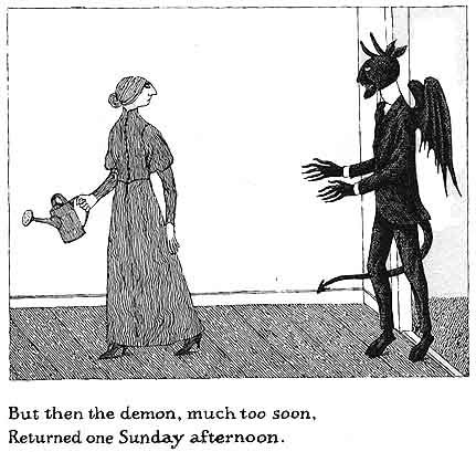 Edward St. John Gorey (February 22, 1925 – April 15, 2000) was an American writer and artist noted for his macabre illustrated books
