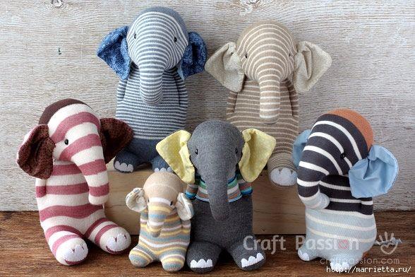 Costure brinquedos de meias - elefante (35) (588x392, 211kb)