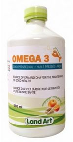 Land Art Omega-3 Cold Pressed Oil Fish Oil is one of nature's most nutritious foods containing high levels of naturally occurring Omega fatty acids.  Lands Art Omega-3 Cold Pressed Oil:  #omega3