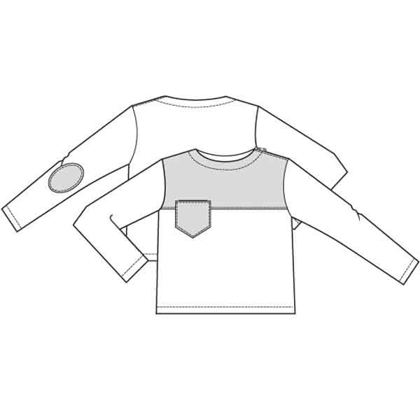 Patroon sweater (PDF patroon) | Jongen | Knippie naaipatronen