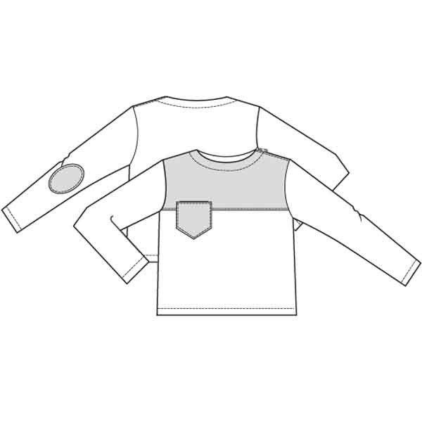 Patroon sweater (PDF patroon)   Jongen   Knippie naaipatronen