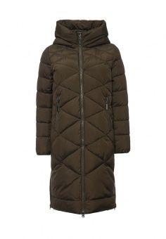 Куртка утепленная, Clasna, цвет: хаки. Артикул: CL016EWNLX81. Женская одежда / Верхняя одежда