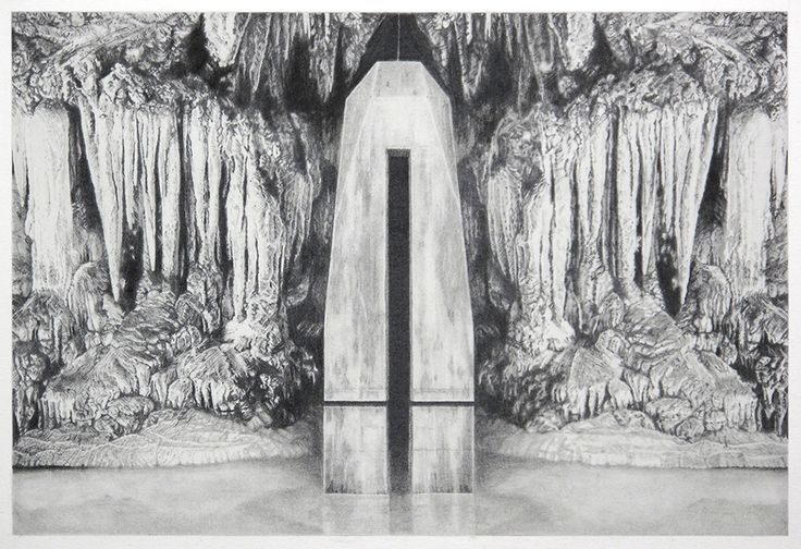 Becc Orszag - Immaculate Landscape III - graphite pencil on paper 32x21cm, 2015